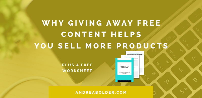 why free content helps you sell more