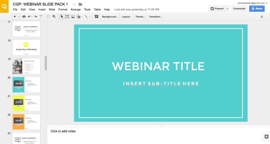 Webinar Slides