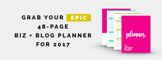 The Most EPIC Business + Blog Planner Ever!