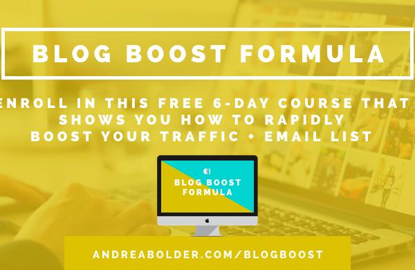 Blog Boost Formula