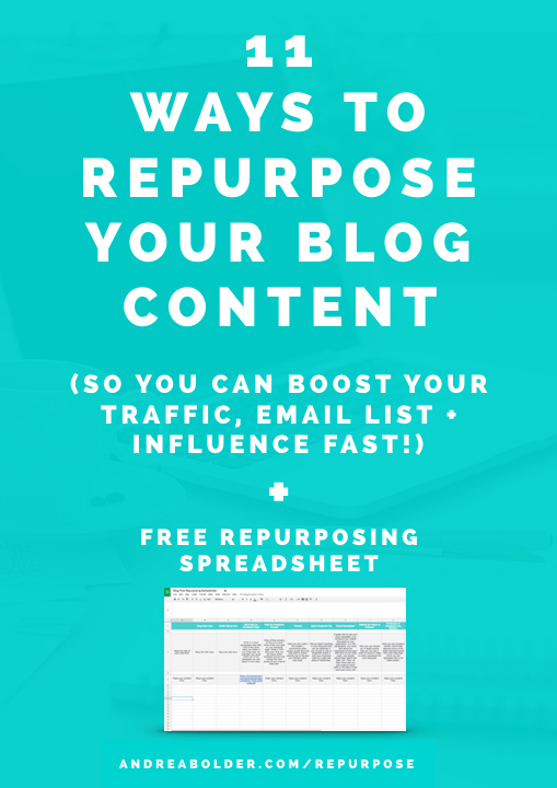 11 Ways To Repurpose Your Blog Content