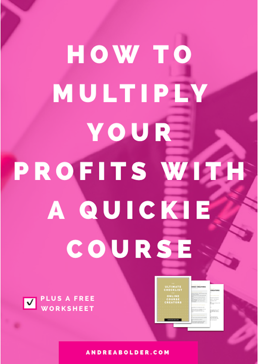 How To Multiply Profits With a Quickie Course