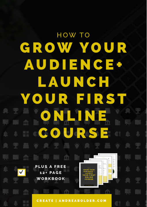 How to Grow Your Audience and Launch Your First Online Course (#ChampionCourse Series)