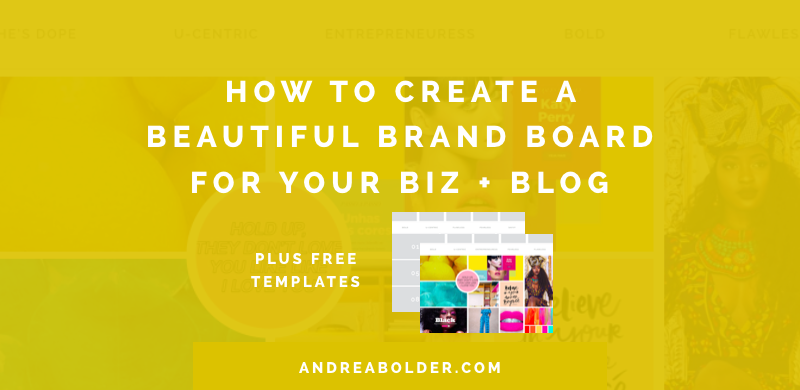 How To Create A Brand Board For Your Business Blog In Pinterest