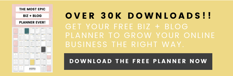 The Most EPIC Business + Blog Planner Ever! (FREE)