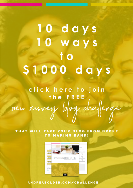 new money blog challenge