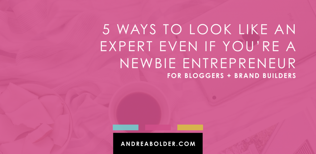 5 Ways To look Like An Expert Online | AndreaBolder.com