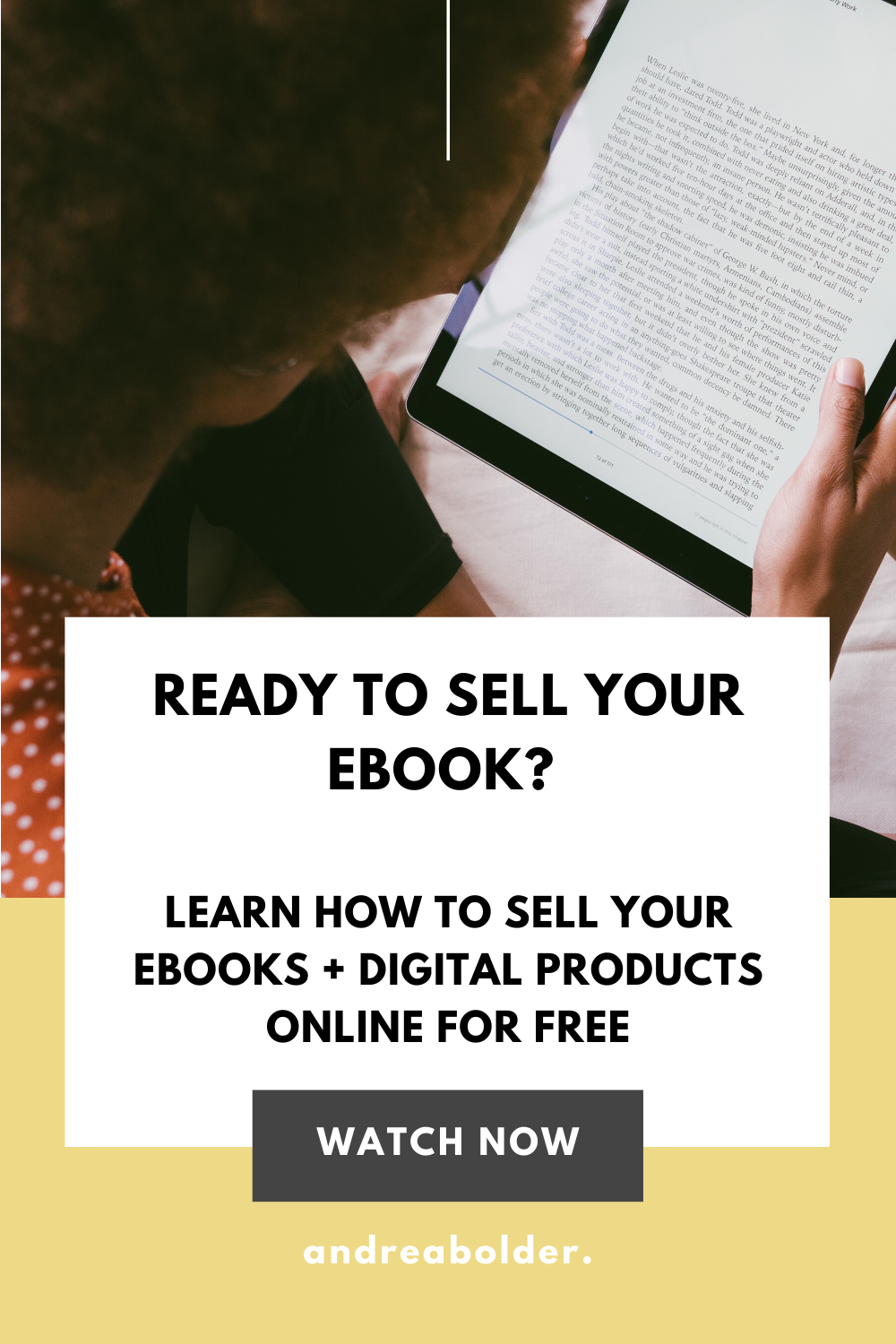HOW TO SELL YOUR EBOOK OR DIGITAL PRODUCTS ONLINE