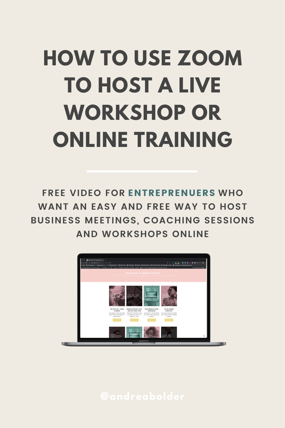 How To Host a Live Online Workshop or Coaching Call with Zoom