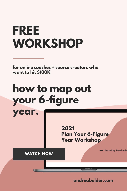 2021 Pin Freebie Plan Your 6-Figure Year1