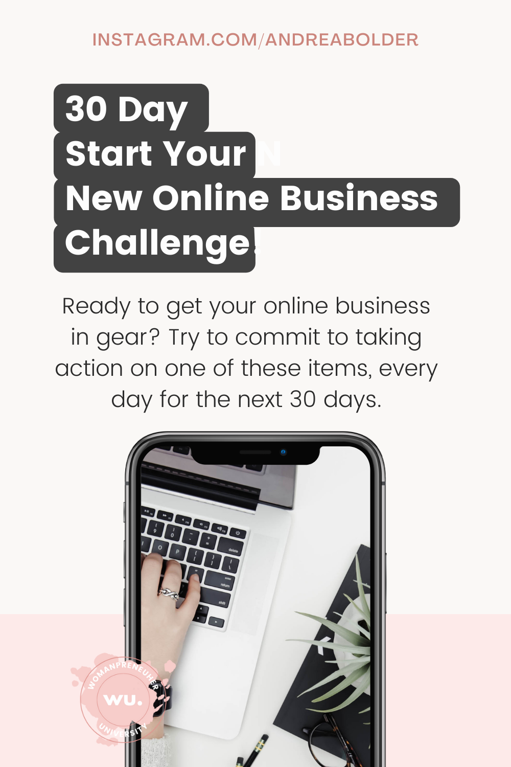 30 Day Start Your New Online Business Challenge!